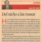 Imagen de un artículo de Joan Mir en el diario Expansión